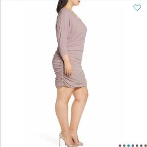 Vince Camuto Ruched Glitter Knit BodyCon Dress 20W
